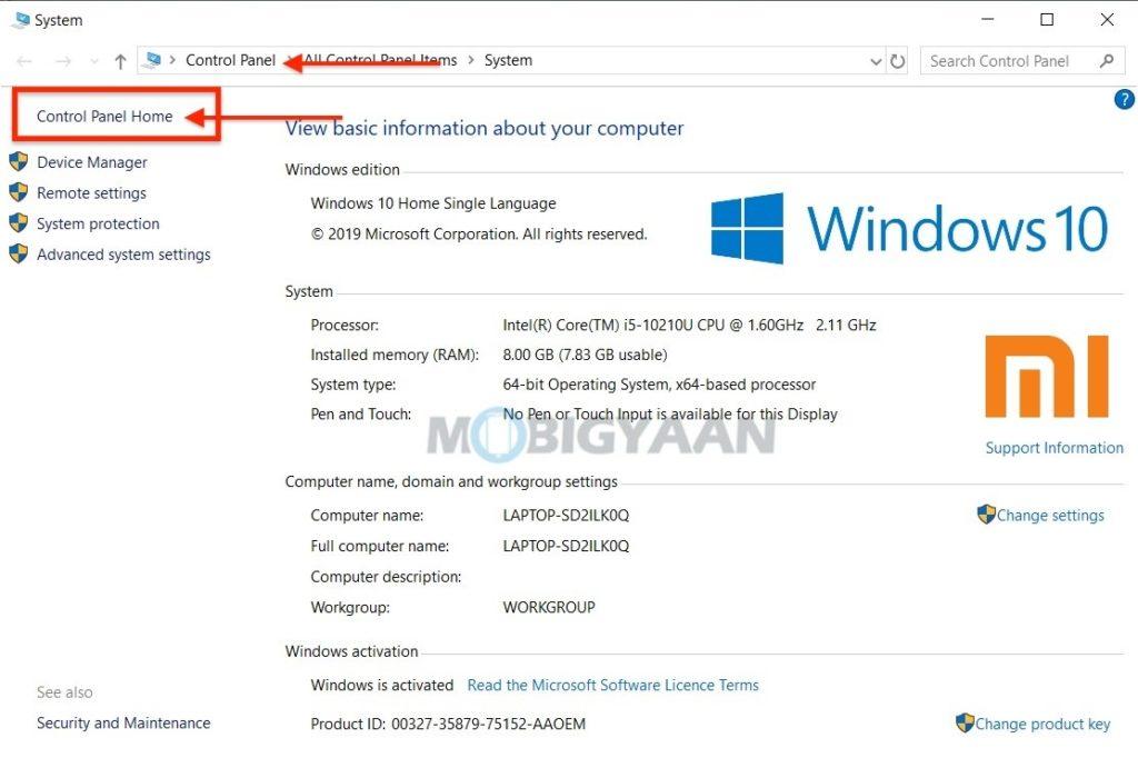 5 formas de abrir el Panel de control en Windows 10-6-1024x682