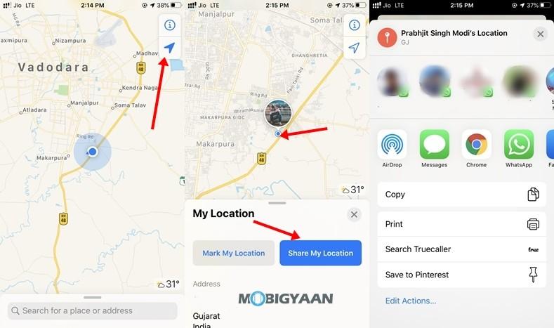 Compartir-Ubicación-Apple-Maps