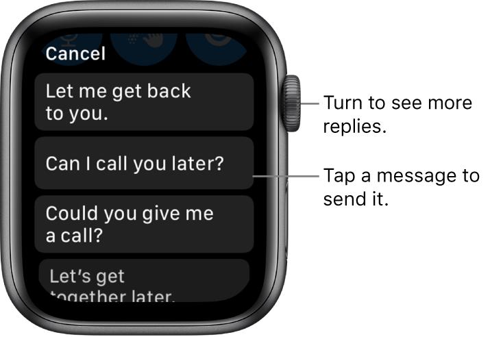 Cómo enviar o responder mensajes en Apple Watch