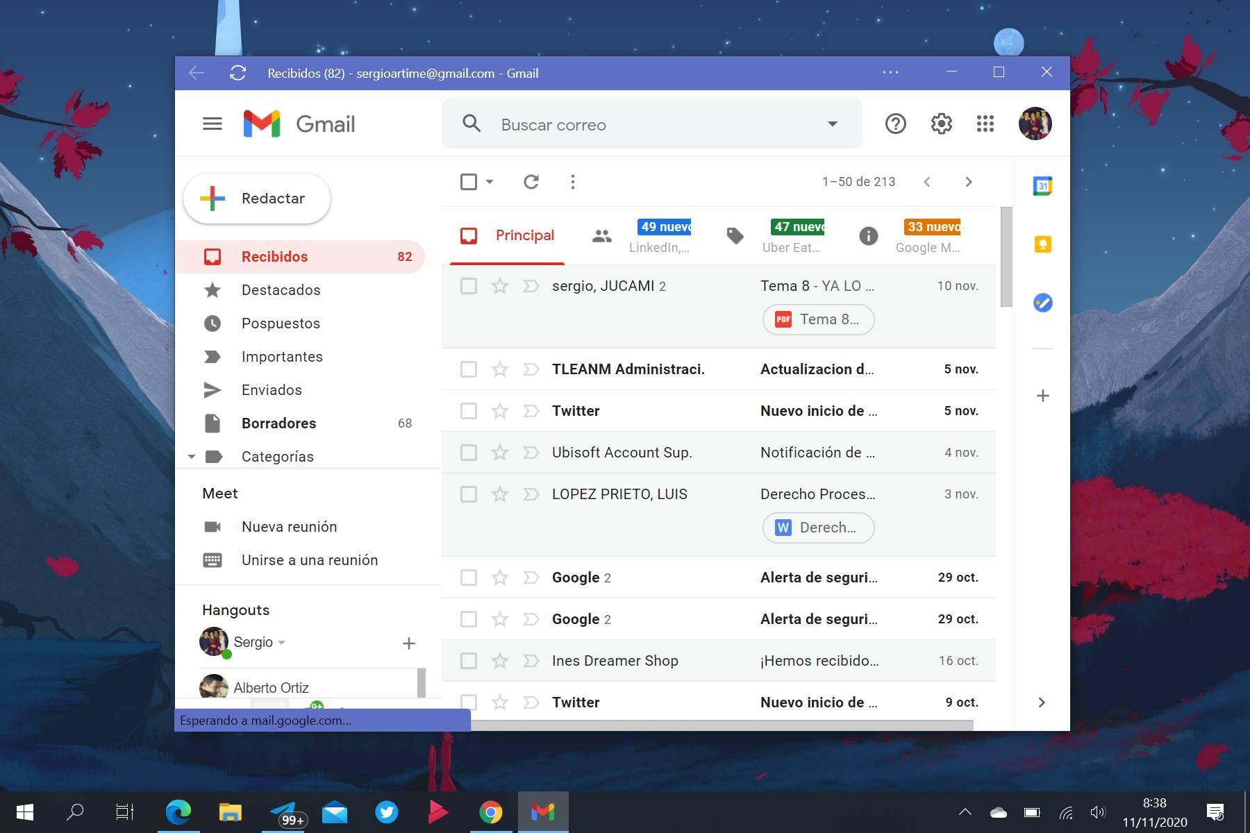 Gmail PWA en Windows 10