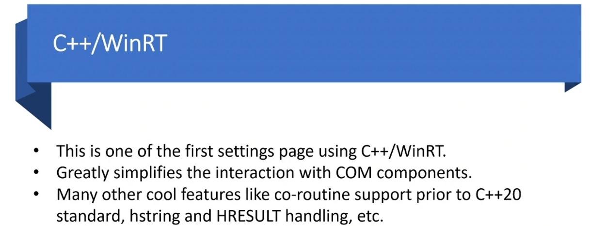 Información técnica sobre C ++ WinRT