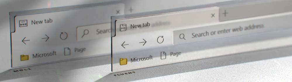 Icono de la pestaña Antes y Después en Microsoft Edge gracias a Fluent Design