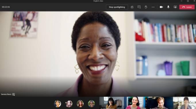 Característica destacada en Microsoft Teams