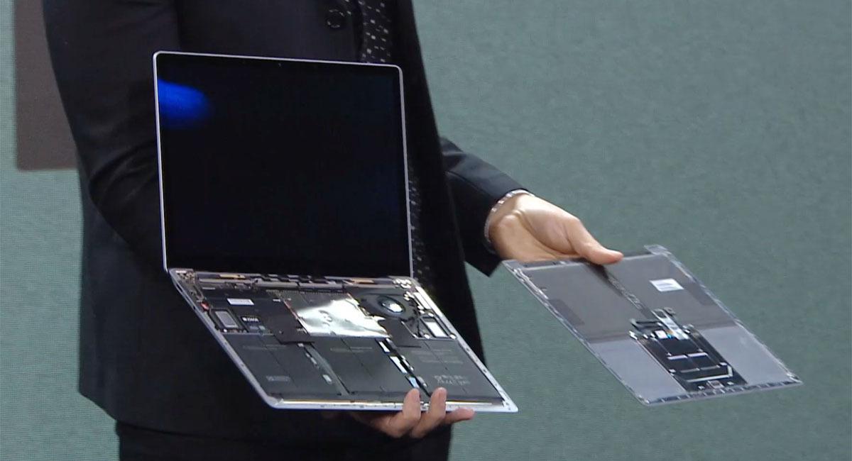 Dentro de un Surface Laptop 3