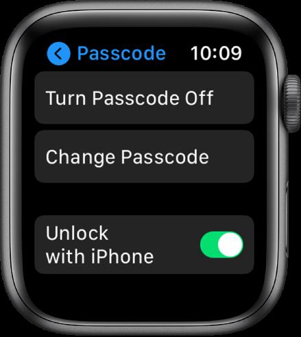 Apple-watch-código de acceso de 6 dígitos