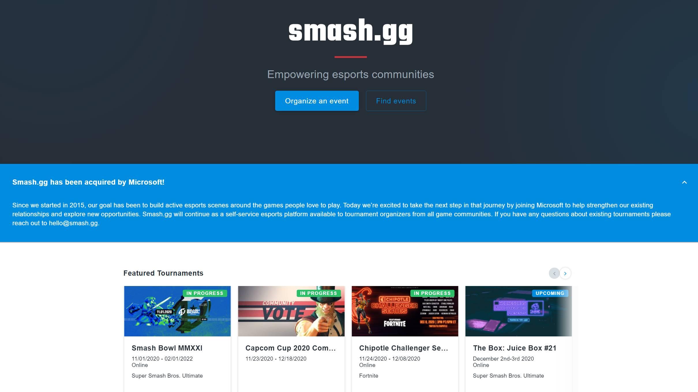Smash.GG ha sido adquirido