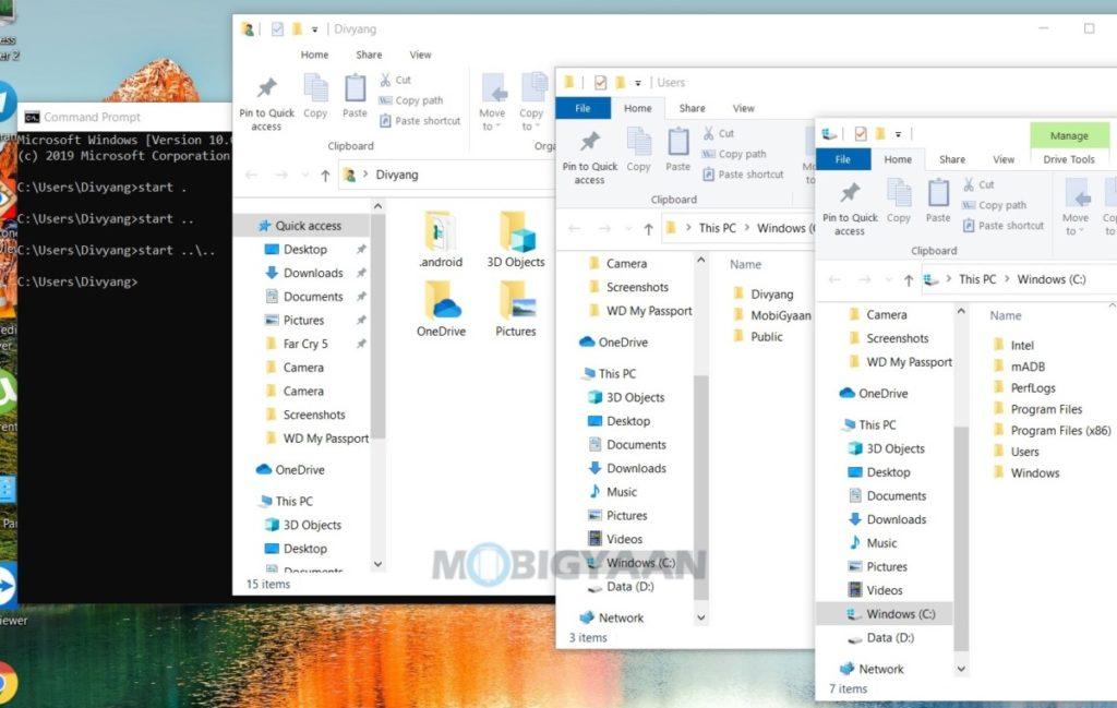 Cómo abrir el Explorador de archivos de Windows usando el símbolo del sistema de Windows 10-1-1024x649