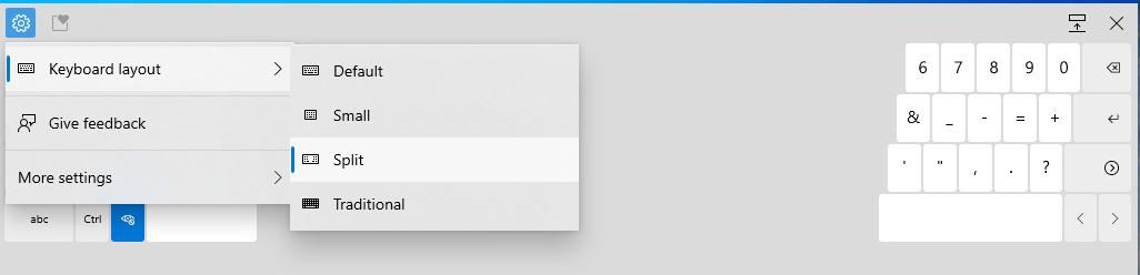 Nuevo menú de configuración para WIndows 10 Build 21301