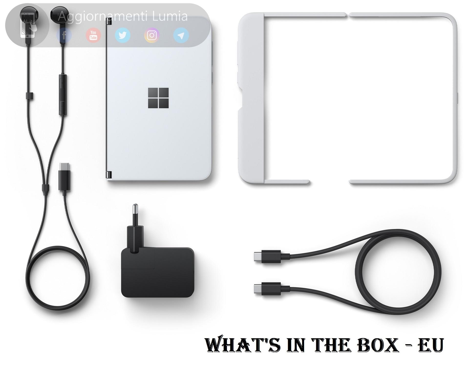 Surface Duo en Europa con todos los accesorios