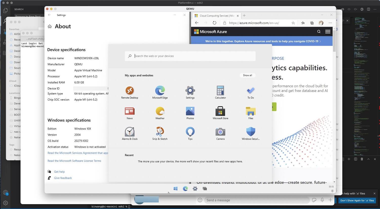 Windows 10X y Apple M1