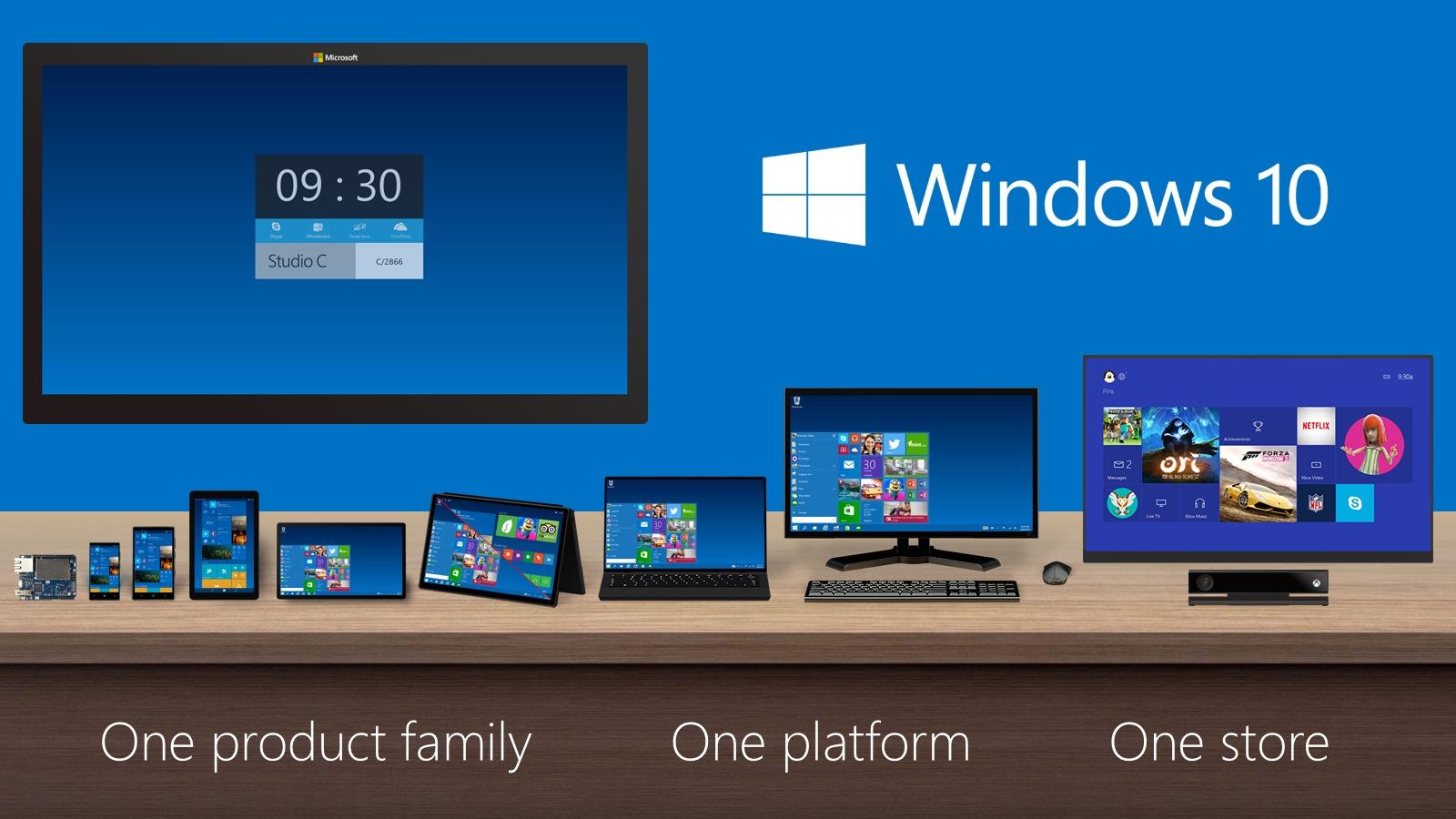 Familia de productos Windows 10