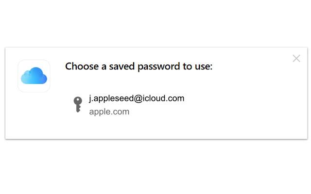 La contraseña guardada en iCloud se muestra en Google Chrome o Microsoft Edge