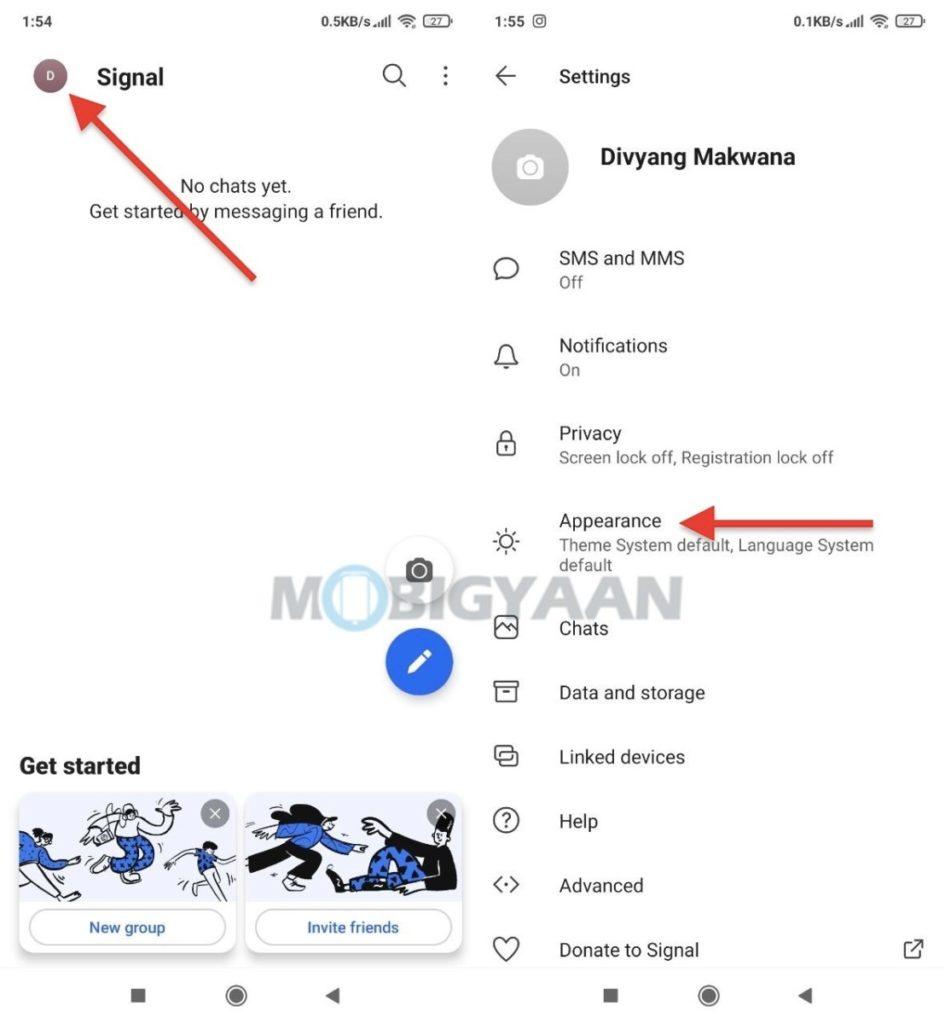 Cómo activar el modo oscuro en la aplicación móvil Signal 3-945x1024