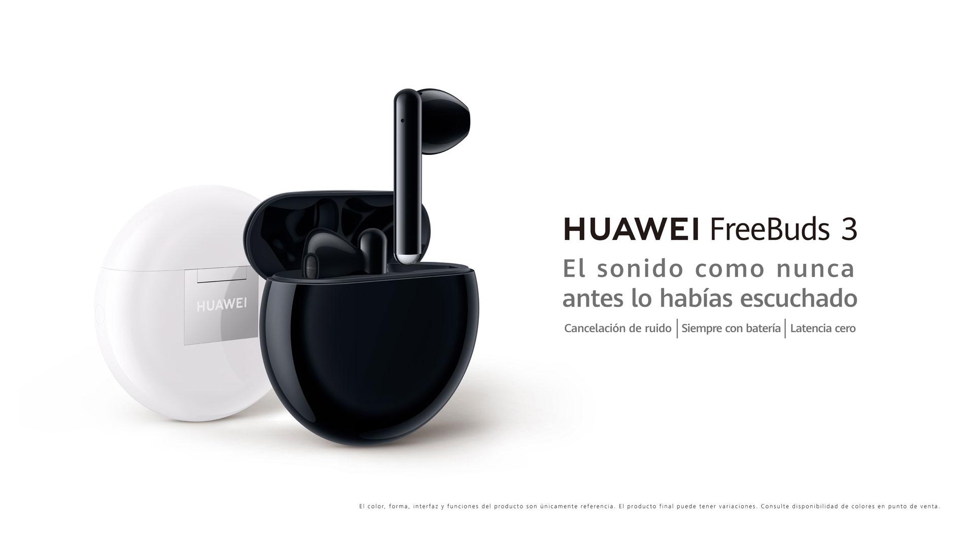 Imagen promocional de Huawei FreeBuds 3
