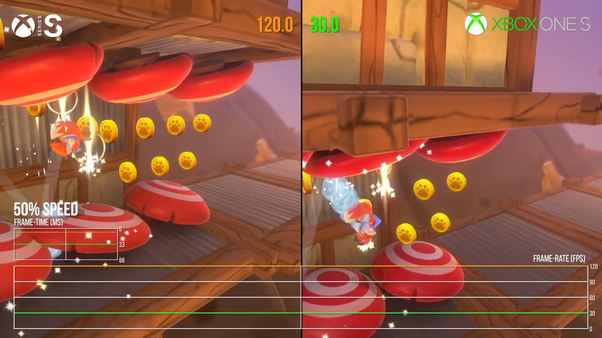 Nueva comparación de Super Lucky's Tale