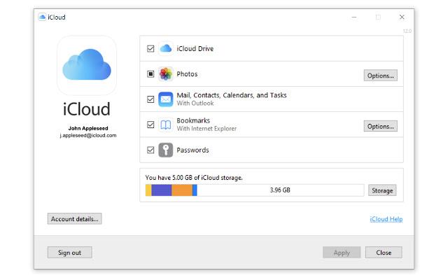 Sincronización de contraseña en iCloud para Windows 10