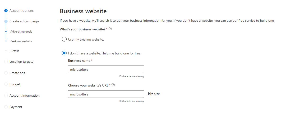Crea un sitio web con el Centro de marketing digital