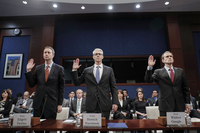 Kent Walker, Director de Asuntos Globales de Google, testifica en Capitol Hill