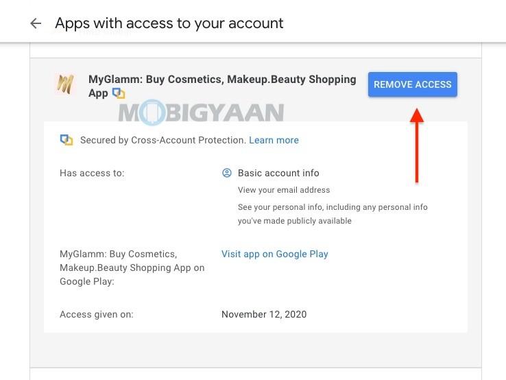 Cómo eliminar aplicaciones de la cuenta de Google PCMac-3