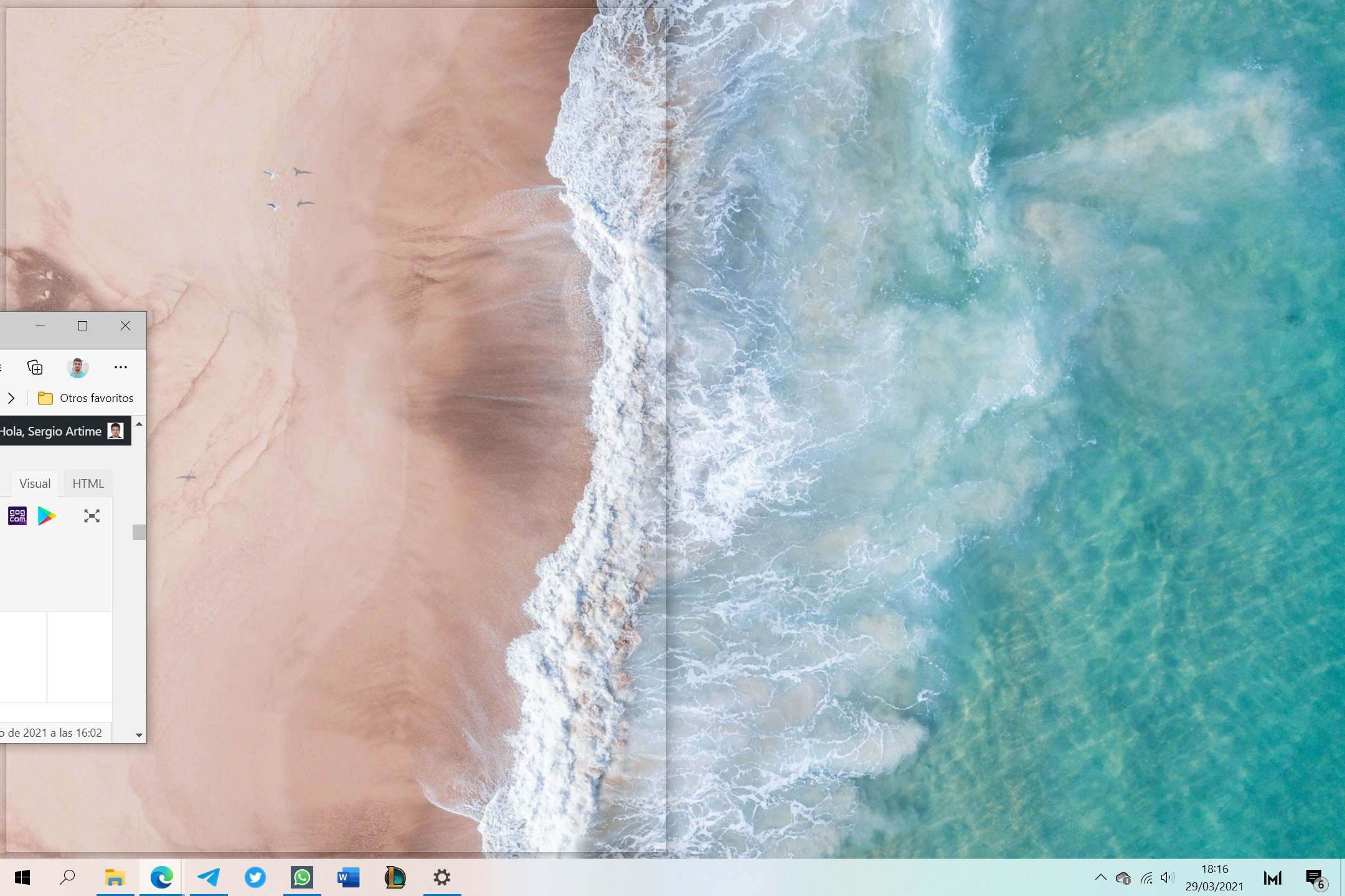 Mover la animación a una pantalla dividida en Windows