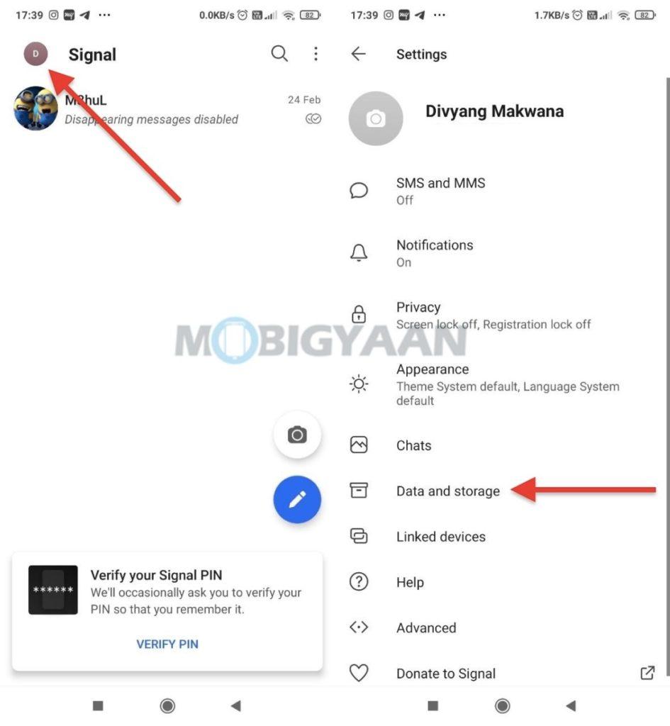 Cómo desactivar la descarga automática de medios en Signal para dispositivos móviles 1-945x1024