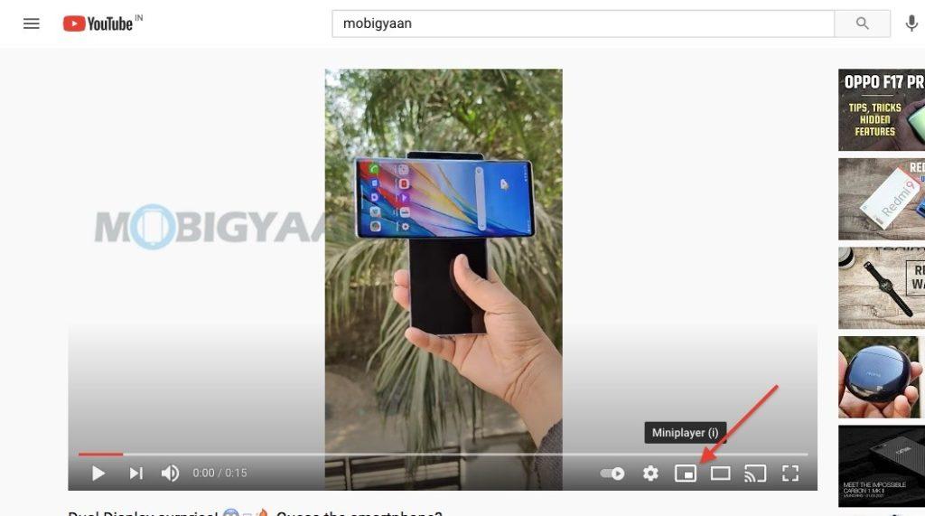 Cómo ver videos de YouTube en modo imagen en imagen Chrome Safari Firefox ...