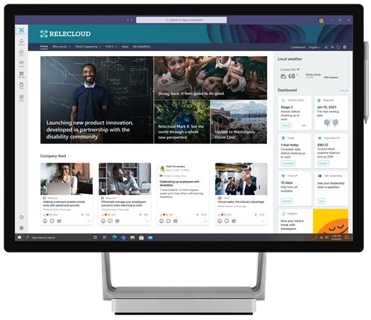 Conexiones de Microsoft Viva en el escritorio