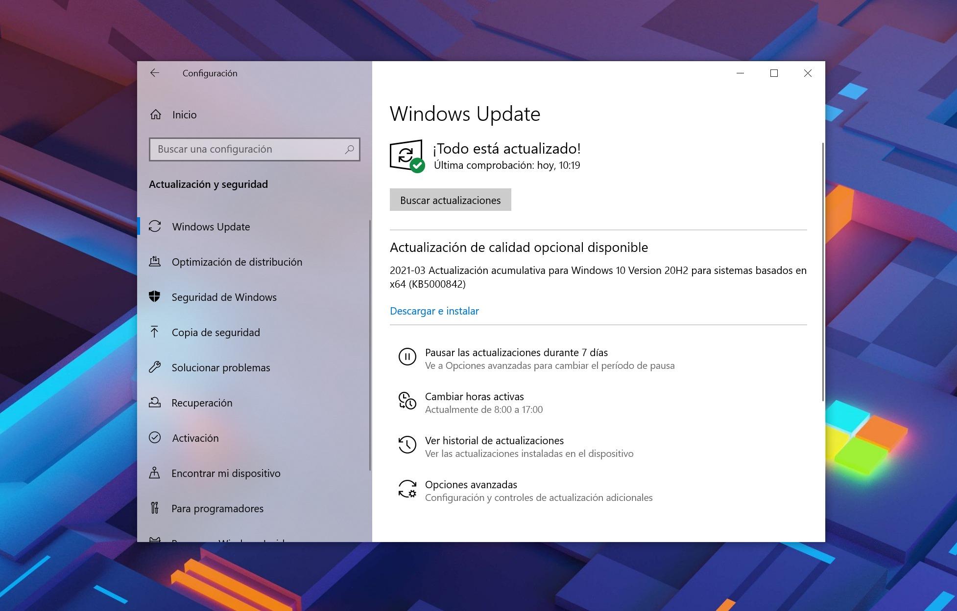 Actualización KB500842 para Windows 10