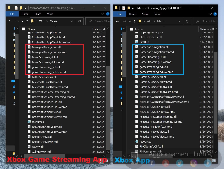 Transmisión de juegos de Xbox y archivos de la aplicación Xbox en Windows 10