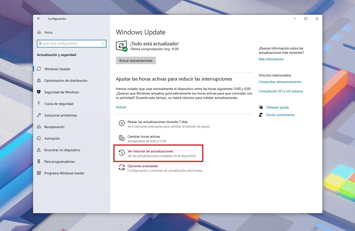 Desinstalar actualizaciones de Windows Update
