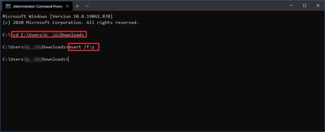 Escáner de seguridad de Microsoft CMD