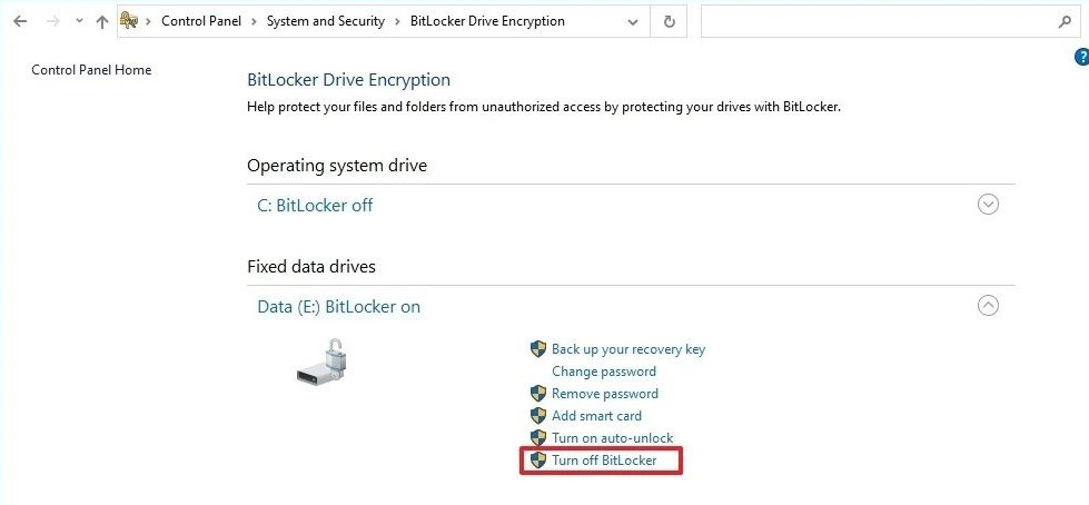 Deshabilitar BitLocker-2-e1621268660625
