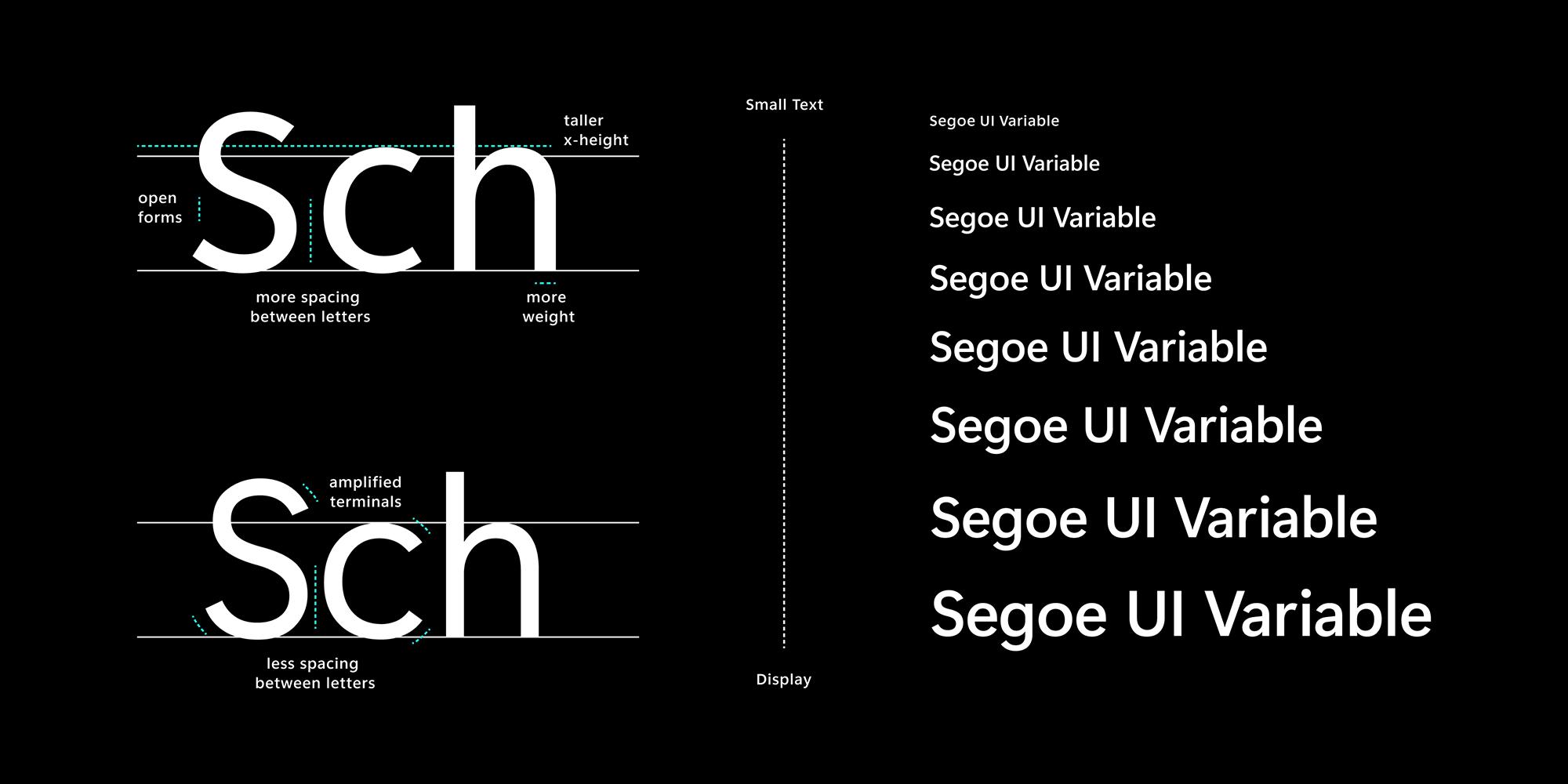 La nueva interfaz de usuario de variables de Segoe en Windows 10