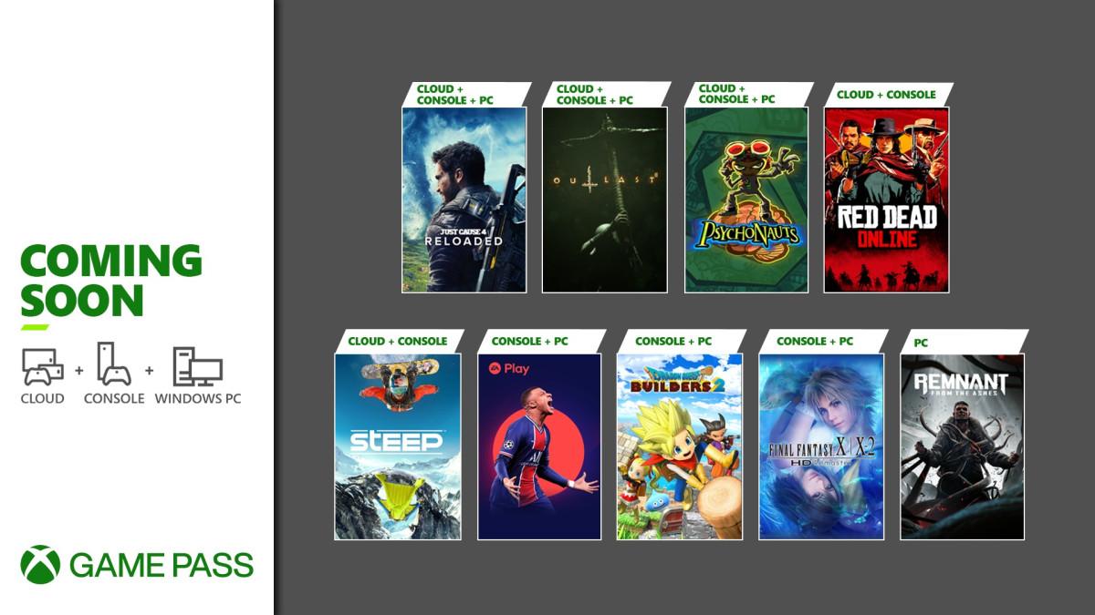 Nuevos títulos de Xbox Game Pass