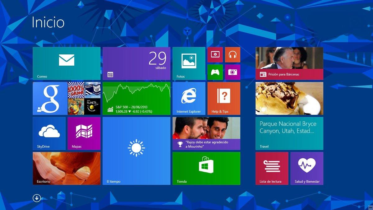 Interfaz de Windows 8