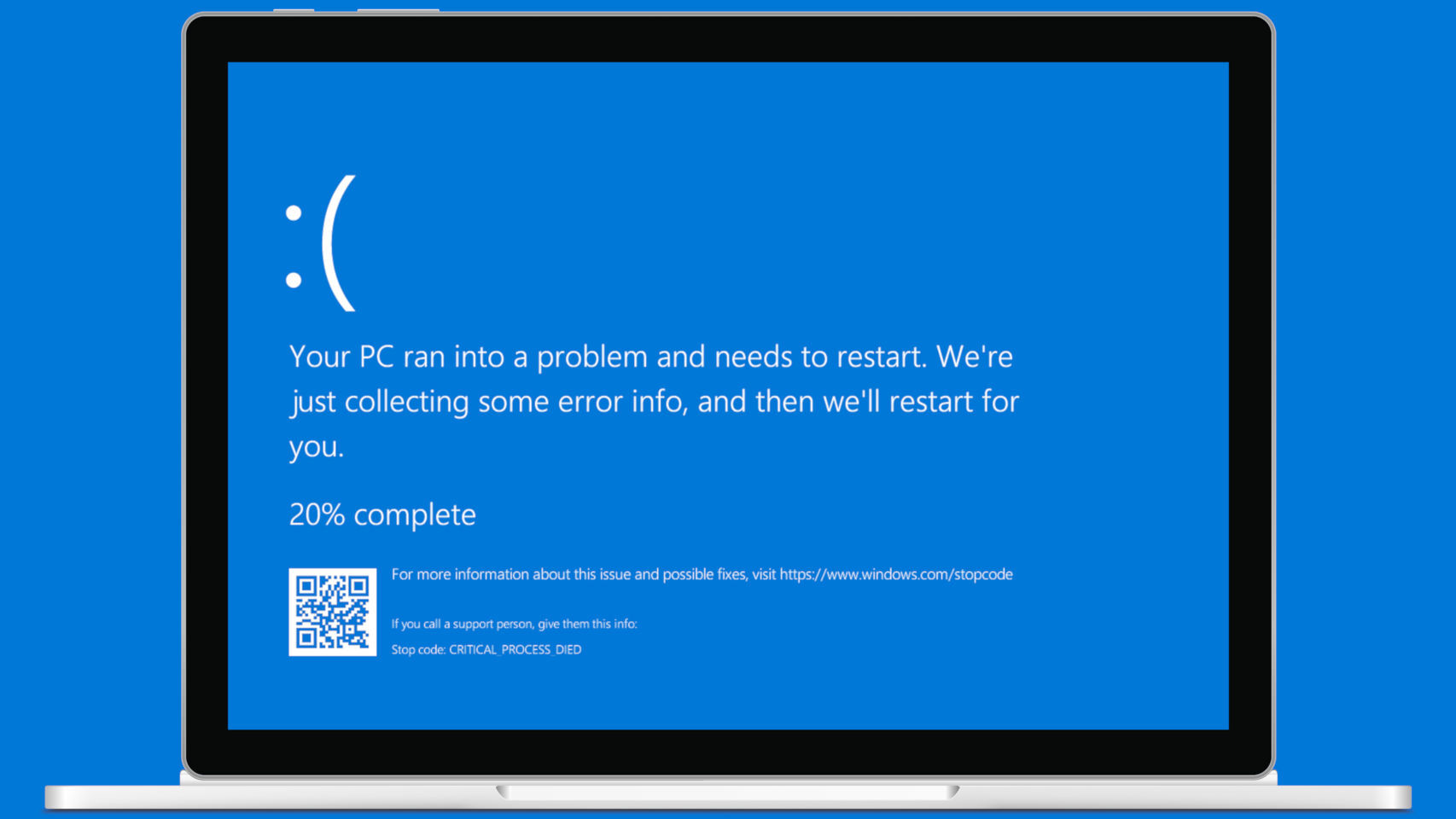 Pantalla azul de Windows 10