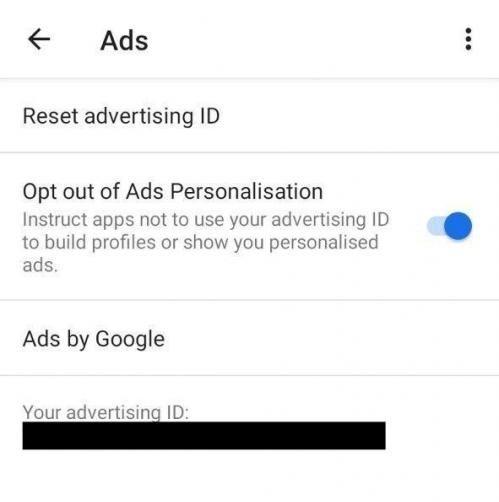 Restablecer ID de publicidad Android e1624468964772