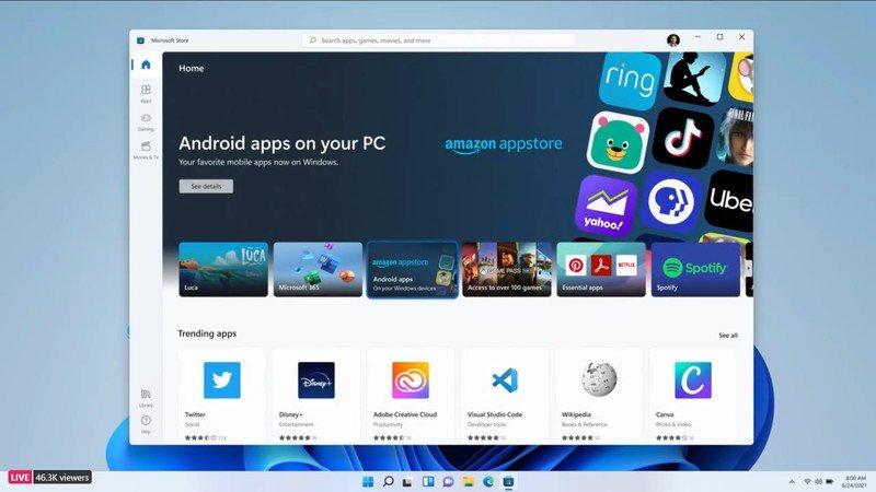 Tienda de aplicaciones de Android Windows 11