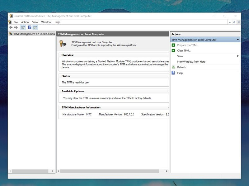 Compruebe Windows Tpm