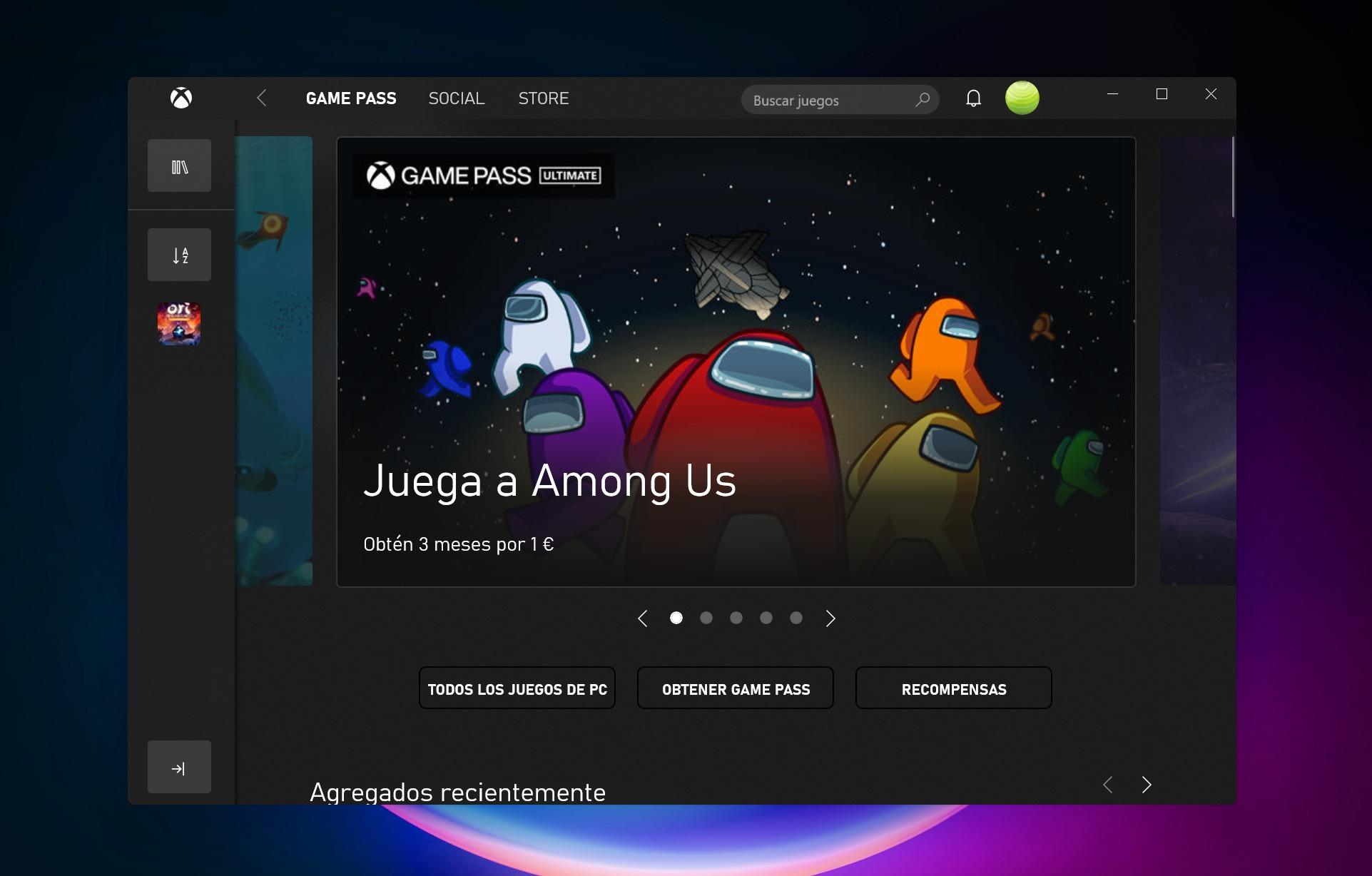 Aplicación Xbox en Windows 11