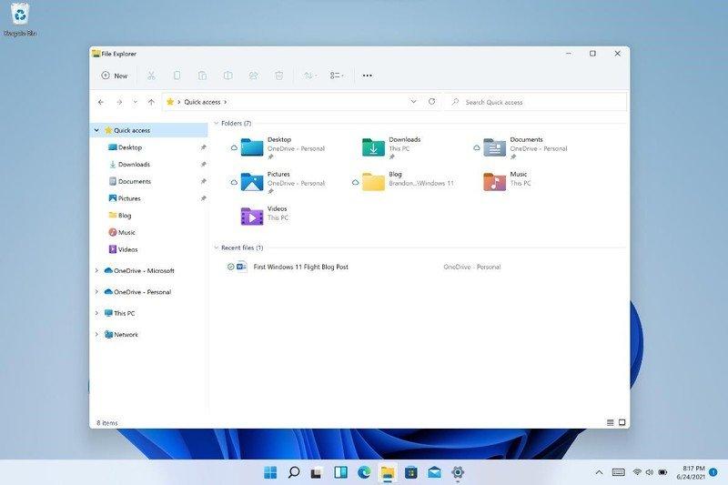 Explorador de archivos de registro de cambios de W11 Insider