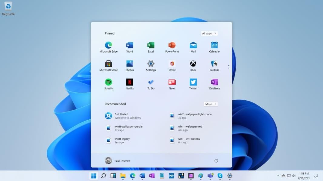 Inicio de Windows 11