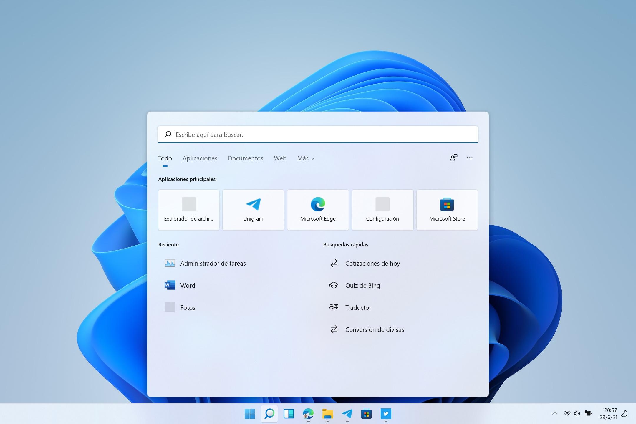 Error de icono en la búsqueda de Windows 11