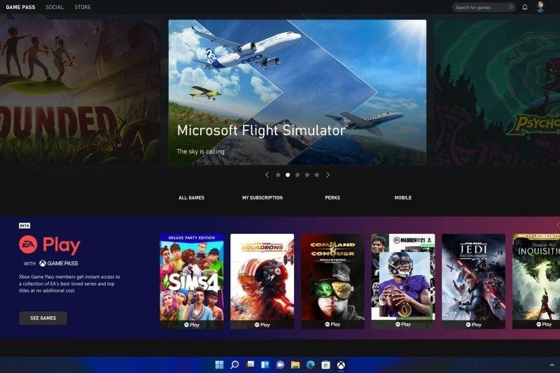 Oficial de Windows 11 Xbox Game Pass