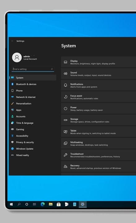 Aplicación de configuración de Windows 11