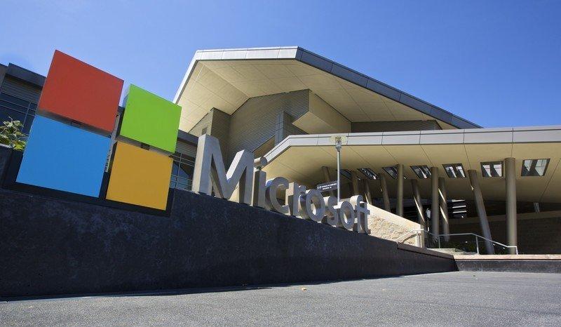 El Centro de visitantes del campus de la sede de Microsoft se muestra el 17 de julio de 2014 en Redmond, Washington.