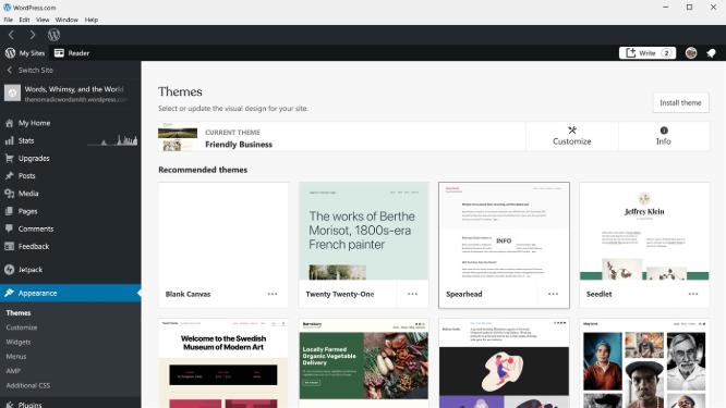 La aplicación de WordPress en Microsoft Store