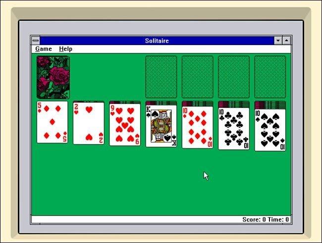 Solitario de Windows 3.1