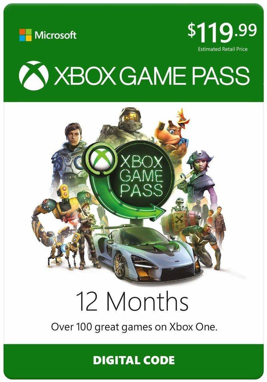 Membresía de Xbox Game Pass de 12 meses