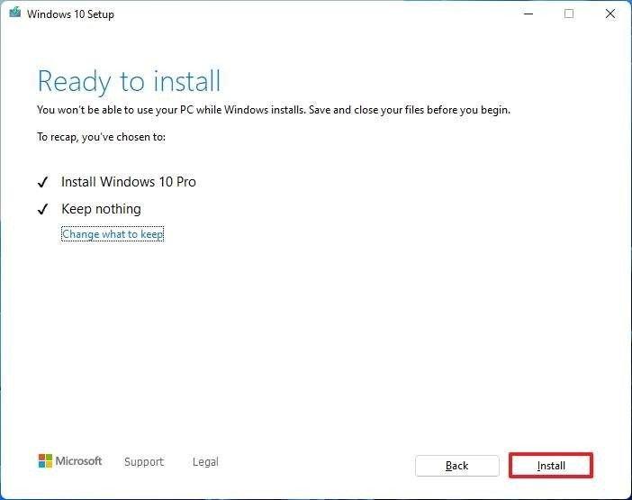 Restaurar la herramienta de creación de medios a Windows 10